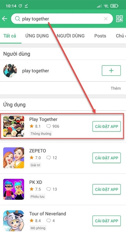 cách tải Play Together apk cho Android