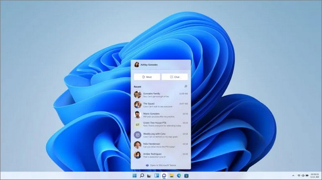 Windows 11 tích hợp teams